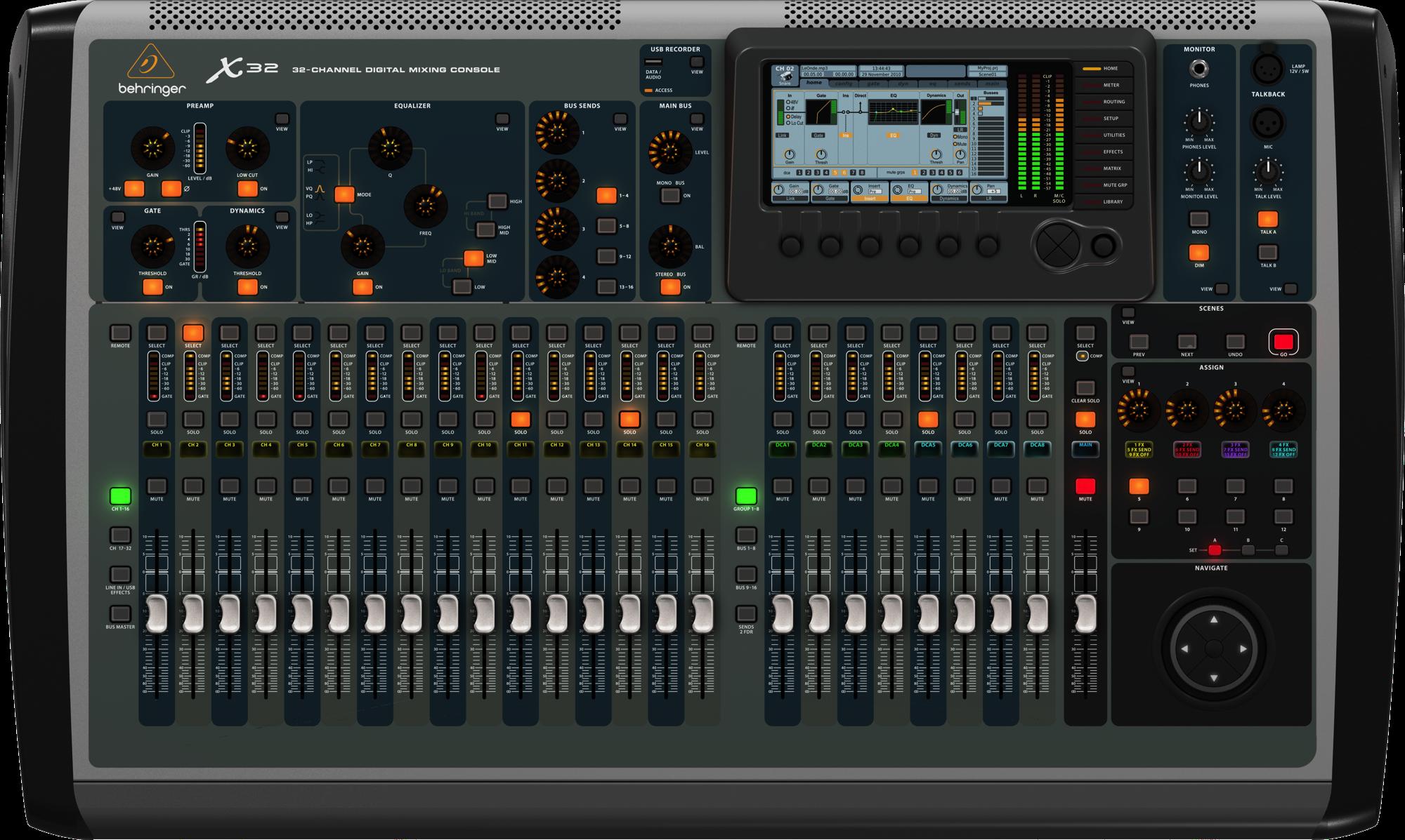 Behringer X32 Ljudkort Studio Forum